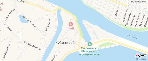 Молодежная улица на карте Кубаньстроя поселка с номерами домов