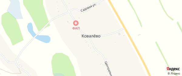 Садовая улица на карте села Ковалево с номерами домов