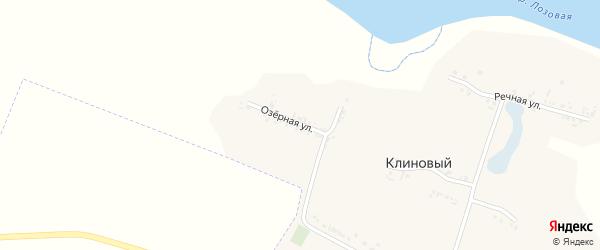 Озерная улица на карте Клинового хутора с номерами домов