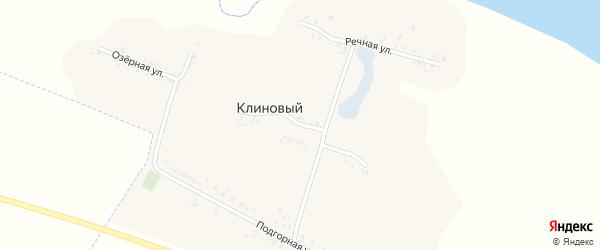 Центральная улица на карте Клинового хутора с номерами домов