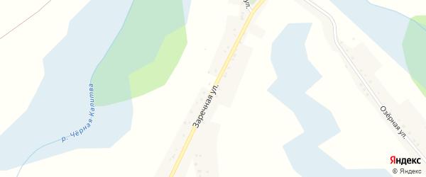 Заречная улица на карте села Варваровки с номерами домов