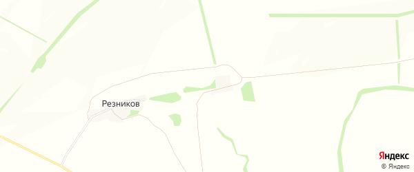 Карта хутора Резникова в Белгородской области с улицами и номерами домов