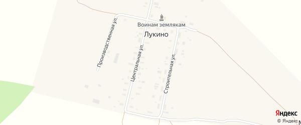 Центральная улица на карте деревни Лукина (Павловского МО) с номерами домов