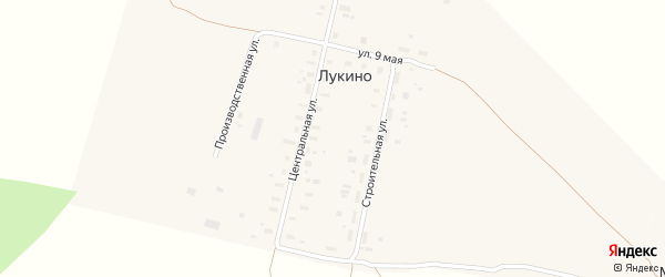 Строительная улица на карте деревни Лукина (Павловского МО) с номерами домов