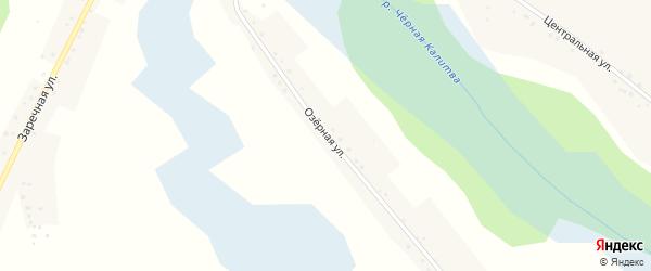 Озерная улица на карте села Варваровки с номерами домов