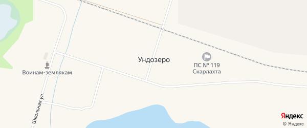 Улица Космонавтов на карте поселка Ундозера с номерами домов