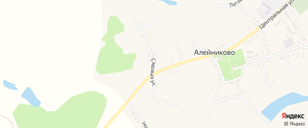 Садовая улица на карте села Алейниково с номерами домов