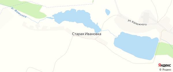 Карта хутора Старой Ивановки в Белгородской области с улицами и номерами домов
