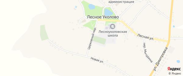 Церковный переулок на карте села Лесное Уколово с номерами домов