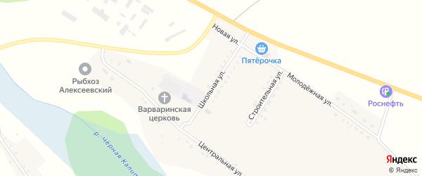 Школьная улица на карте села Варваровки с номерами домов