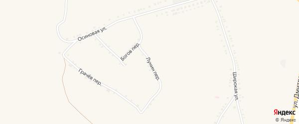 Переулок Лунин на карте села Лесное Уколово с номерами домов