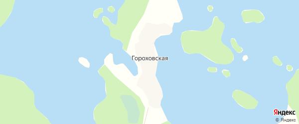 Карта Гороховской деревни в Архангельской области с улицами и номерами домов
