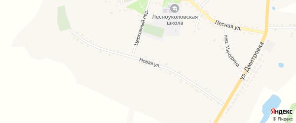 Новая улица на карте села Лесное Уколово с номерами домов