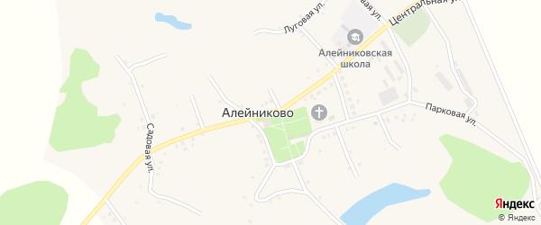 Центральная улица на карте села Алейниково с номерами домов
