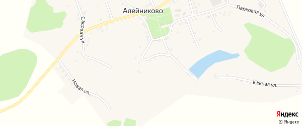 2-й Парковый переулок на карте села Алейниково с номерами домов