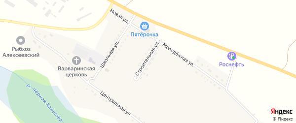Строительная улица на карте села Варваровки с номерами домов