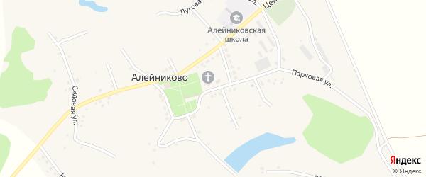 Парковая улица на карте села Алейниково с номерами домов