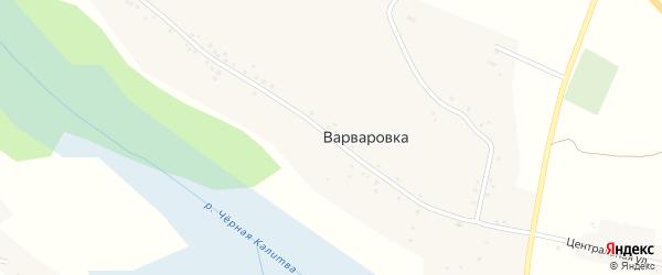 Центральная улица на карте села Варваровки с номерами домов