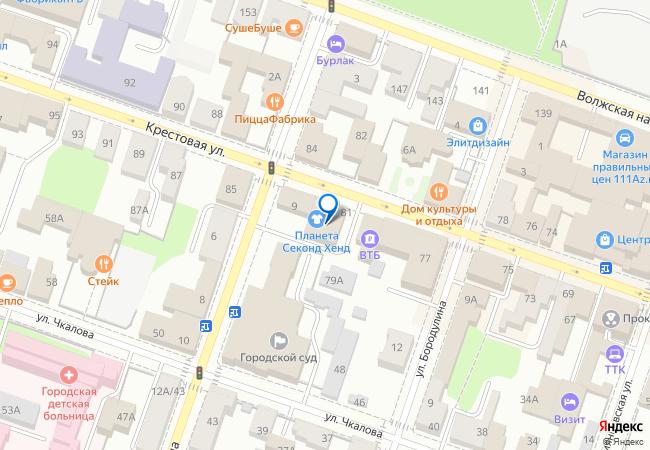 Крестовая улица, 81 на карте-панораме Рыбинска, организации, фото ... 24db6fcfc58
