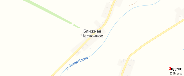 1-й Подгорный переулок на карте Ближнего Чесночного села с номерами домов