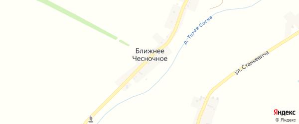 3-й Подгорный переулок на карте Ближнего Чесночного села с номерами домов