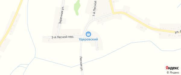 Лесная улица на карте села Мухоудеровки с номерами домов