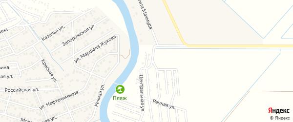 Улица Дружбы на карте садового некоммерческого товарищества Мелиоратора-1 с номерами домов