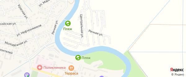 Ореховая улица на карте садового некоммерческого товарищества Мелиоратора-1 с номерами домов