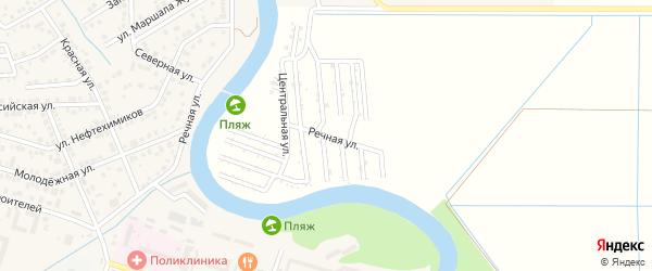 Центральная улица на карте садового некоммерческого товарищества Мелиоратора-1 с номерами домов