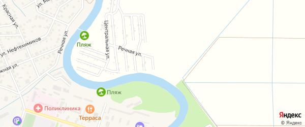 Речная улица на карте садового некоммерческого товарищества Мелиоратора-1 с номерами домов