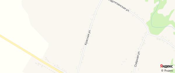 Красная улица на карте поселка Ровенек с номерами домов