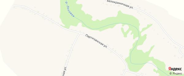 Партизанская улица на карте поселка Ровенек с номерами домов