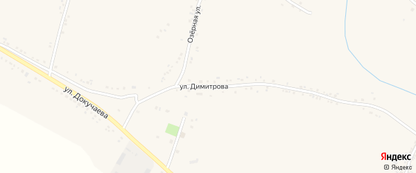 Улица Димитрова на карте поселка Ровенек с номерами домов