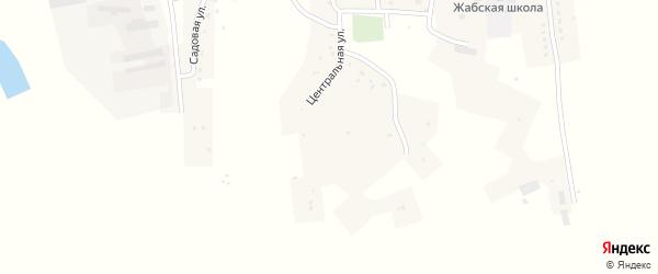 Садовая улица на карте Жабского села с номерами домов