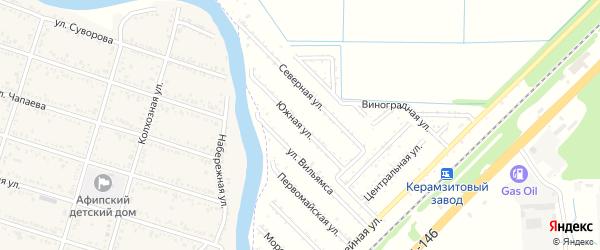 Южная улица на карте садового некоммерческого товарищества 70 лета Октября с номерами домов