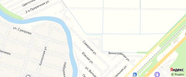 Клубничная улица на карте садового некоммерческого товарищества Строителя с номерами домов