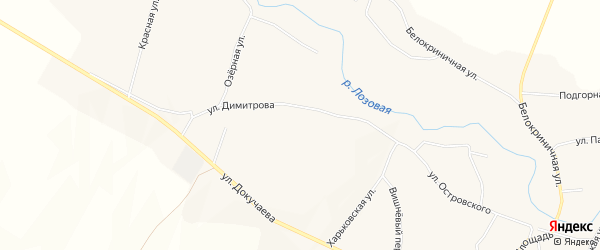 Карта поселка Ровенек в Белгородской области с улицами и номерами домов