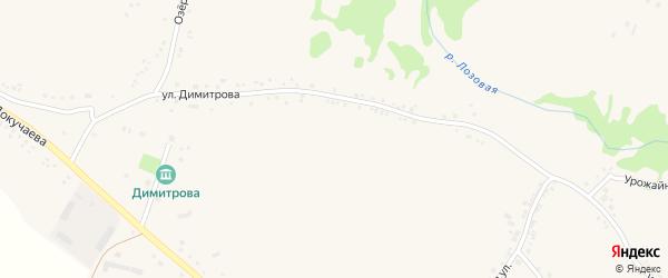 Улица Данцева на карте поселка Ровенек с номерами домов