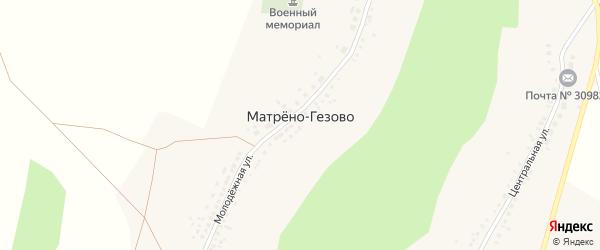 Подгорная улица на карте села Матрено-Гезово с номерами домов