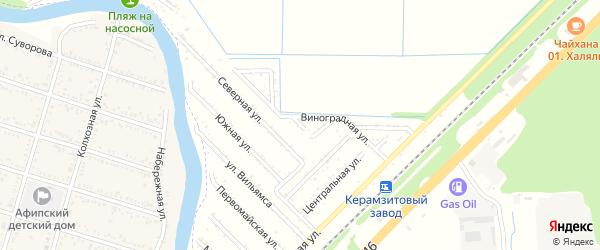 Вишневая улица на карте садового некоммерческого товарищества Строителя с номерами домов