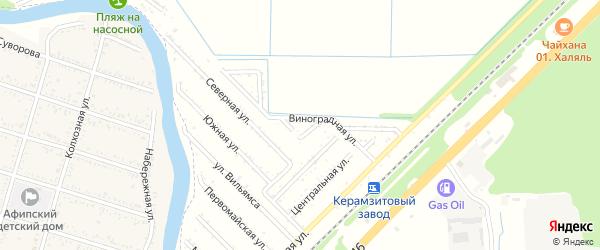Виноградная улица на карте садового некоммерческого товарищества Строителя с номерами домов