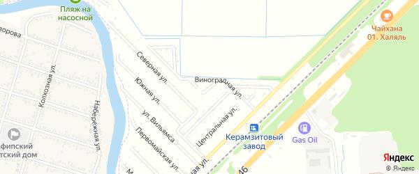 Грушевая улица на карте садового некоммерческого товарищества Строителя с номерами домов