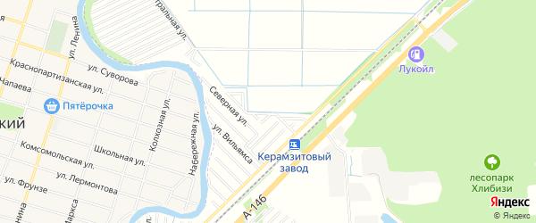 Карта садового некоммерческого товарищества Строителя в Адыгее с улицами и номерами домов