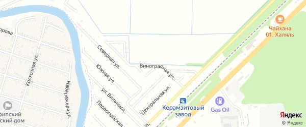 Улица Транспортников на карте садового некоммерческого товарищества Строителя с номерами домов