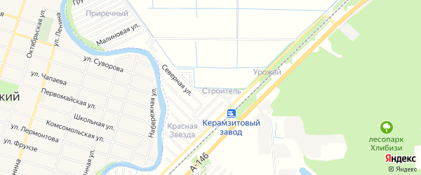 Карта садового некоммерческого товарищества Строителя города Майкопа в Адыгее с улицами и номерами домов