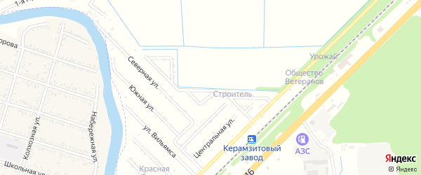 Анисовая улица на карте садового некоммерческого товарищества Строителя (Энема) с номерами домов