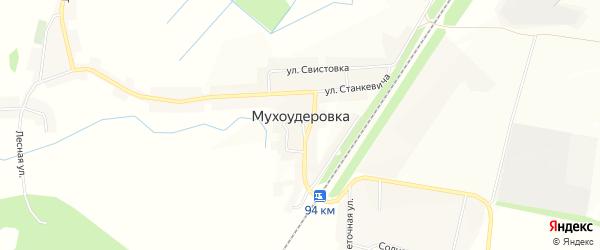 Карта села Мухоудеровки в Белгородской области с улицами и номерами домов