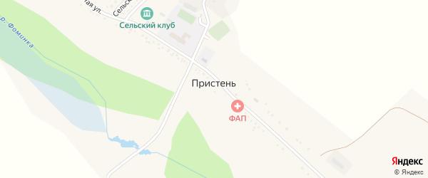 Сельский переулок на карте села Пристеня с номерами домов