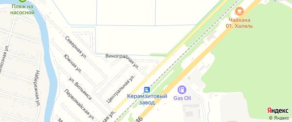 Абрикосовая улица на карте садового некоммерческого товарищества Строителя с номерами домов
