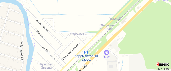 Абрикосовая улица на карте садового некоммерческого товарищества Строителя (Энема) с номерами домов